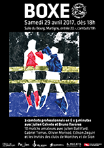 Affiche du meeting de boxe du 29 avril 2017